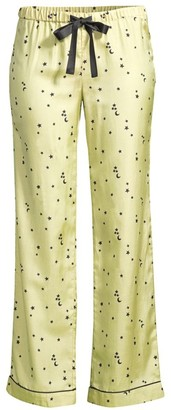 Morgan Lane Chantal Moon & Star Silk Satin Pajama Pants