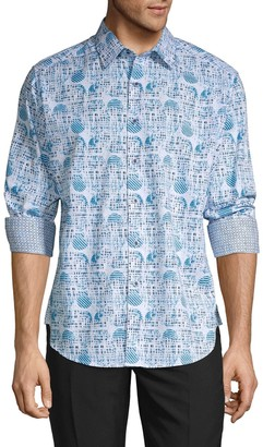 Robert Graham Ivey Geo Print Shirt