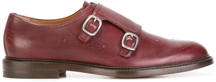Gucci Bee Brogue Monk shoes