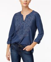 Style&Co. Style & Co Embroidered Top, Only at Macy's