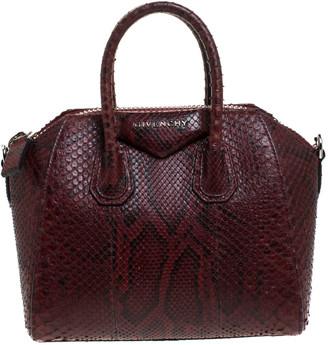 Givenchy Burgundy Python Mini Antigona Satchel