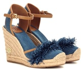 Tory Burch Shaw 90 denim wedge espadrilles