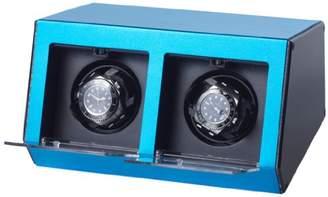 Raoul U.Braun U Brown Watch Winder Ferrum Style Blue for 2 Watches Watchwinder Aluminium casing