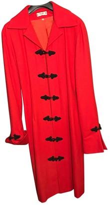 Celine Red Wool Coats
