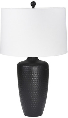 "Sagebrook Home Metal 28"" Table Lamp Hammered Finish, Matt Black"