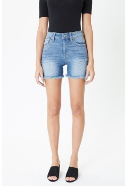 Thumbnail for your product : Kancan Women's High Rise Frayed Hem Shorts