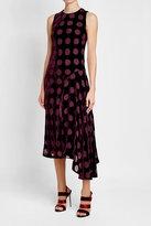 Nina Ricci Velvet Dress with Chiffon Spots