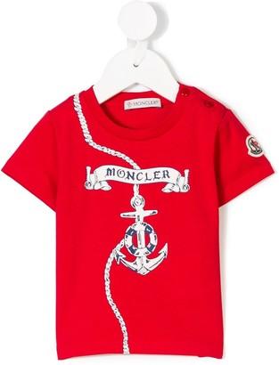 Moncler Enfant printed T-shirt
