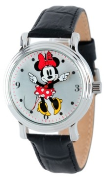 EWatchFactory Disney Minnie Mouse Women's Shinny Silver Vintage Alloy Watch
