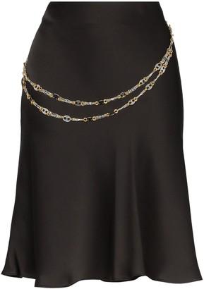Paco Rabanne chain belt short skirt