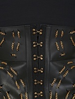 Chained Leather Peplum Belt