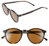 Komono Women's Aston 48Mm Round Sunglasses - Black/ Tortoise