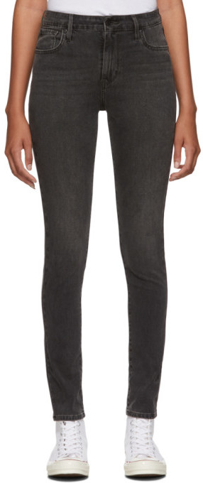 Levi's Levis Black 721 High-Rise Skinny Jeans