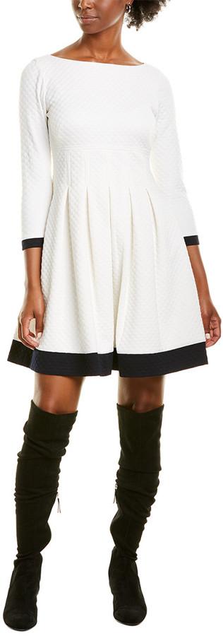 Eliza J Jacquard A-Line Dress