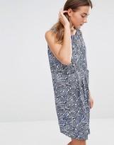 Ichi Leaf Print Shift Dress