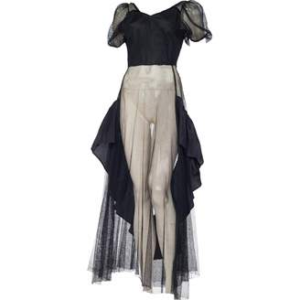 N. Non Signé / Unsigned Non Signe / Unsigned \N Black Polyester Dresses