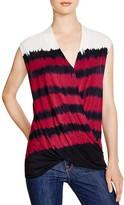 Karen Millen Tie-Dye Drape Front Top - 100% Bloomingdale's Exclusive