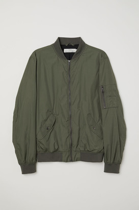 H&M Nylon Bomber Jacket - Green