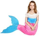 BATTOP Pink Mermaid Tail Super Soft Blanket Crystal Velvet Lovely Gift for kids (Child, Pink)