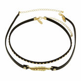 Natasha Accessories 2-Row Feather Choker