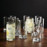 Crate & Barrel Set of 12 Impressions Cooler Glasses