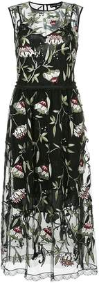 Markus Lupfer sheer floral print dress