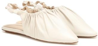 Nanushka Zuo slingback leather ballet flats