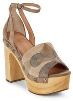 Sigerson Morrison Quentin Suede Platform Sandals
