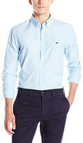 Lacoste Men's City Long Sleeve Button Down End on End Regular Fit