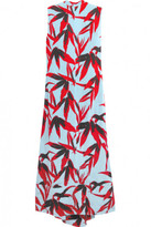 Marni Open-back printed crepe midi dress