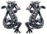 Butler & Wilson Black Diamond Lizard Earrings