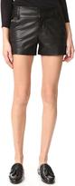 Alice + Olivia Cady Leather Shorts