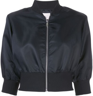 Cinq à Sept Cindy silk bomber jacket