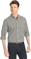 Izod Men's Slim-Fit Gingham-Checked Stretch Button-Down Shirt