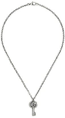 Gucci GG Key Sterling Silver Pendant Necklace