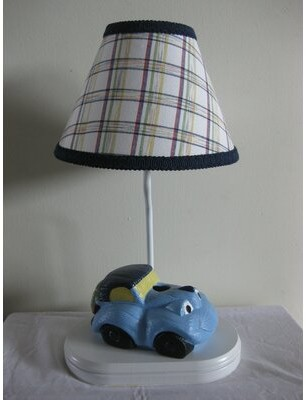 "Car Transportation 13.5"" Table Lamp Silly Bear Lighting Shade: Color Crayon Cutie"