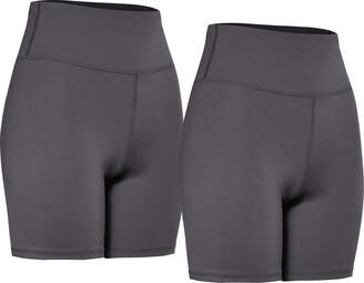 Aurique Amazon Brand Women's 2 Pack Sculpt High Waisted Cycling Shorts