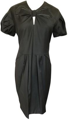 April May Black Wool Dress for Women