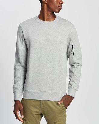 C.P. Company Embroidered Logo Crew Neck Sweatshirt