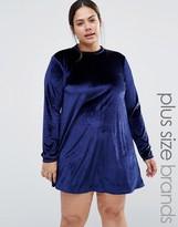 Brave Soul Plus Velvet Dress