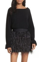 Milly Women's Flare Sleeve Cashmere Sweater