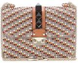 Valentino Garavani Lock small embellished leather shoulder bag