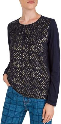 Gerard Darel Eliseo Metallic-Dot Keyhole Sweater
