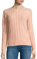 Lord & Taylor Petite Cable Knit Cashmere Sweater