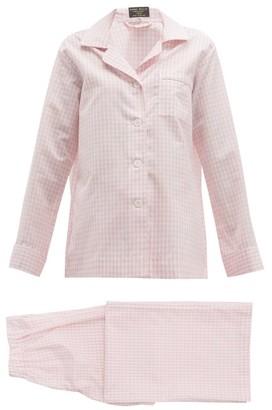 Emma Willis Zephirlino Gingham Cotton-blend Pyjamas - Pink Multi