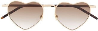 Saint Laurent Heart-Frame Sunglasses