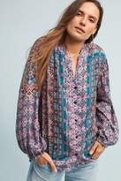 Anthropologie Melany Printed Blouse