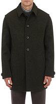 Lodental Men's Wool-Mohair Balmacaan Coat-GREEN