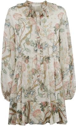Chloé Floral Print Crystal-embellished Dress