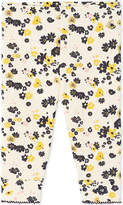 Petit Bateau Baby girl's floral and sequin double-knit cotton leggings